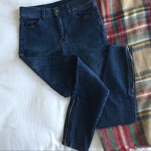 Splendid Crop Ankle Zip Jeans -- Size 25